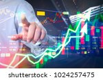 Small photo of Stock market digital graph chart on LED display concept. A large display of daily stock market price and quotation. Indicator financial forex trade education background.