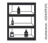 supermarket shelving with... | Shutterstock .eps vector #1024259191