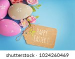 greeting card with colorful... | Shutterstock . vector #1024260469