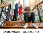 sad boy was crying because... | Shutterstock . vector #1024260715