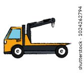 crane truck service icon | Shutterstock .eps vector #1024262794