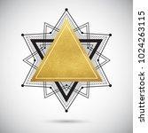 mandala  polygonal star... | Shutterstock .eps vector #1024263115