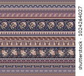 abstract ethnic stripy... | Shutterstock .eps vector #1024264027
