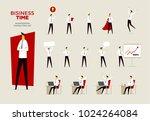 set of businessman characters | Shutterstock .eps vector #1024264084