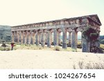 ancient greek temple of segesta ... | Shutterstock . vector #1024267654