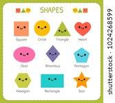set of smiling geometric...   Shutterstock .eps vector #1024268599