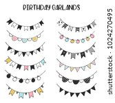 unique hand drawn birthday... | Shutterstock .eps vector #1024270495