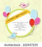 cute happy birthday card with...   Shutterstock .eps vector #102427225
