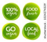 eco bio and organic food label. ... | Shutterstock .eps vector #1024274329