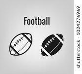 american football vector icon ... | Shutterstock .eps vector #1024276969