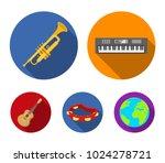 electro organ  trumpet ... | Shutterstock .eps vector #1024278721
