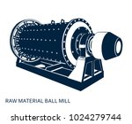 raw material ball mill ... | Shutterstock .eps vector #1024279744