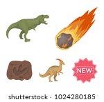 a falling meteorite... | Shutterstock .eps vector #1024280185