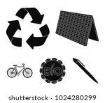 bio label  eco bike  solar... | Shutterstock .eps vector #1024280299