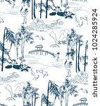 chinese lanscape japanese... | Shutterstock .eps vector #1024285924