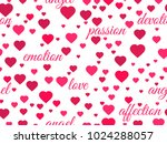 seamless pattern with hearts... | Shutterstock .eps vector #1024288057