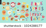 love  spring  breakfast... | Shutterstock .eps vector #1024288177