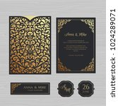 wedding invitation or greeting... | Shutterstock .eps vector #1024289071
