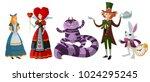 alice in wonderland classic... | Shutterstock .eps vector #1024295245