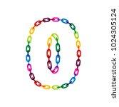 0 chain letter logo icon design | Shutterstock .eps vector #1024305124