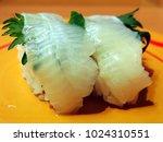 engawa  sushi of flounder edge  ... | Shutterstock . vector #1024310551
