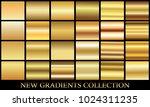 gold gradient set background... | Shutterstock .eps vector #1024311235
