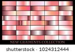 rose gold gradient set... | Shutterstock .eps vector #1024312444