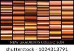 bronze gradient set background... | Shutterstock .eps vector #1024313791