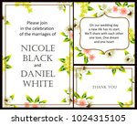 invitation with floral... | Shutterstock .eps vector #1024315105