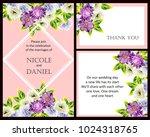 romantic invitation. wedding ... | Shutterstock . vector #1024318765