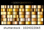 gold color gradient  set of... | Shutterstock .eps vector #1024322065