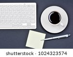 office desk table with empty... | Shutterstock . vector #1024323574