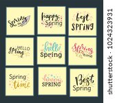 hello spring time vector... | Shutterstock .eps vector #1024323931