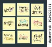 hello spring time vector... | Shutterstock .eps vector #1024323931