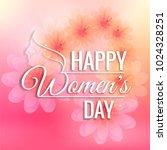 beautiful women's day card... | Shutterstock .eps vector #1024328251