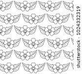 seamless pattern spring... | Shutterstock .eps vector #1024332319