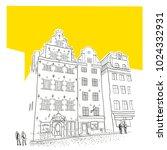 stockholm. gamla stan. old town ... | Shutterstock .eps vector #1024332931
