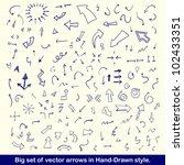 blue hand drawn arrows set | Shutterstock . vector #102433351