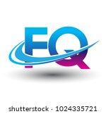 initial letter fq logotype... | Shutterstock .eps vector #1024335721