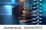 server room 3d illustration... | Shutterstock . vector #1024337071
