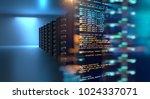 server room 3d illustration... | Shutterstock . vector #1024337071