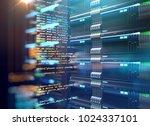 server room 3d illustration... | Shutterstock . vector #1024337101