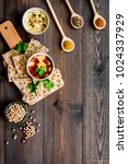 serve hummus. bowl with dish... | Shutterstock . vector #1024337929