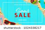 beautiful web banner for summer ... | Shutterstock .eps vector #1024338217