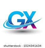 initial letter gx logotype... | Shutterstock .eps vector #1024341634