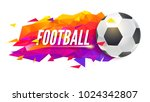logo for football teams or... | Shutterstock .eps vector #1024342807