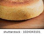 sponge cake on old wooden table | Shutterstock . vector #1024343101