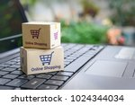 online shopping   ecommerce and ... | Shutterstock . vector #1024344034