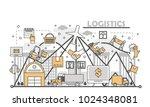 logistics concept vector... | Shutterstock .eps vector #1024348081