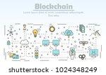 blockchain technology... | Shutterstock .eps vector #1024348249